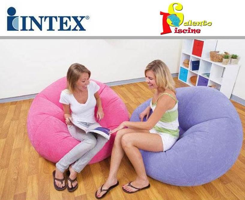 INTEX 68569NP POLTRONA SACCO COLORATA 107X104X69 VERDE