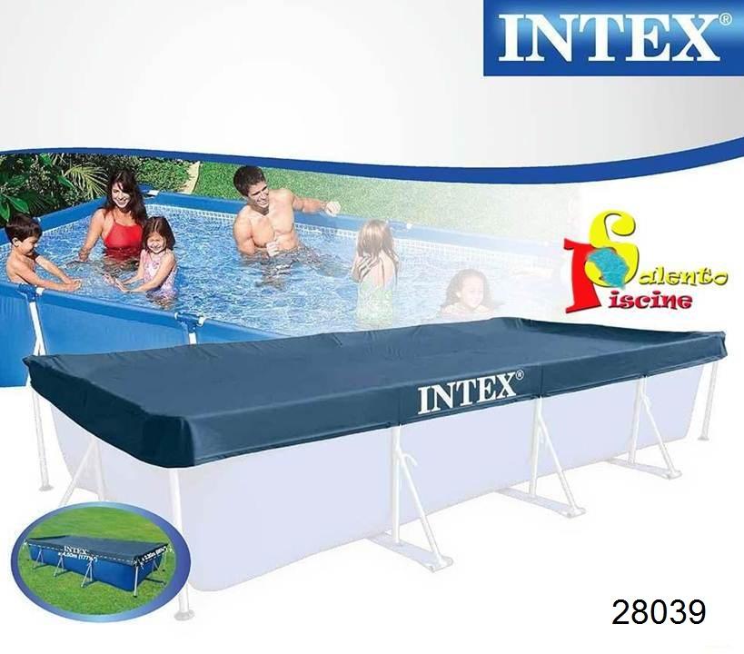 Telo copertura frame rettangolare 450 220 cm intex - Telo per piscina intex ...