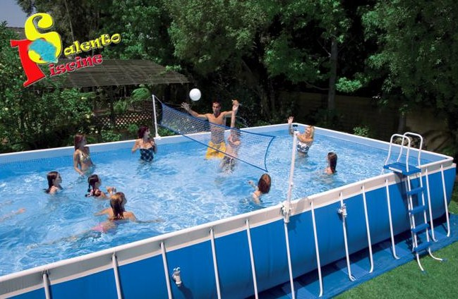 18952u set volley x piscina ultra frame rettangolare 549 e for Intex piscine ricambi