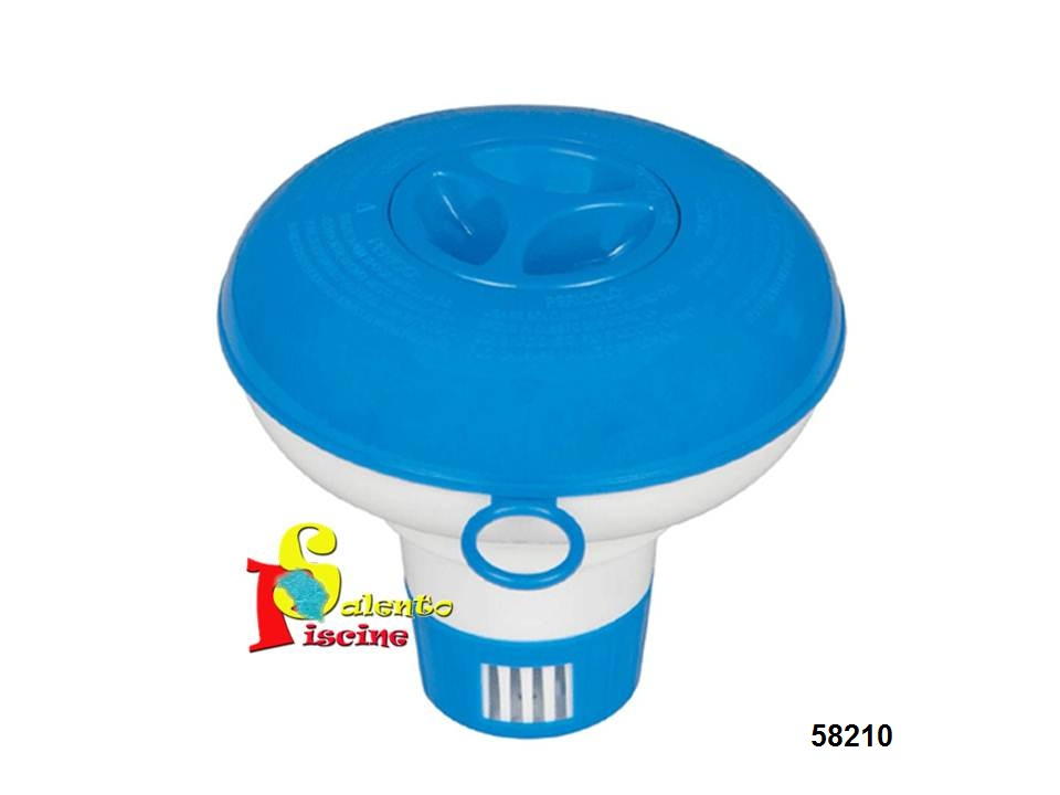 Dispenser piccolo di cloro galleggiante bestway for Piccolo ponte per piscina fuori terra
