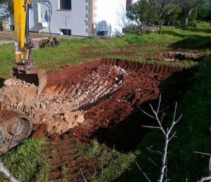 inizio scavo