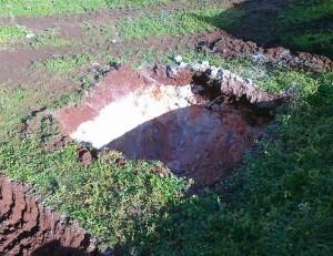 scavo per pozzetto imhoff