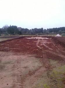 inizio operazione di scavo