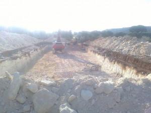 operazione di scavo